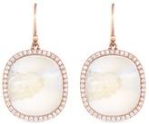 Monique Péan 'Fossilized Walrus Ivory' diamond 18k rose gold drop earrings