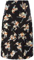 Marni floral print pencil skirt