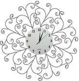 "Lulu Decor Creeper Wall Clock, Decorative Metal Wall Clock 24.50"", Glass Dial 9.50"" (White Dial)"