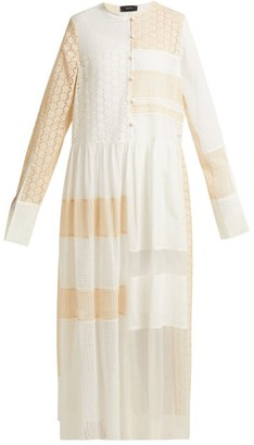 Joseph Odette Patchwork Broderie-anglaise Dress - Womens - Cream Multi