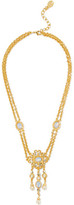 Ben-Amun Gold-Plated Stone, Crystal And Faux Pearl Necklace
