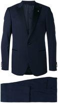 Lardini pointed lapels two-piece suit - men - Cotton/Polyester/Cupro/Wool - 48