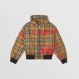 Burberry Childrens Horseferry Print Check Lightweight Hooded Jacket