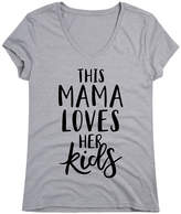 Instant Message Women's Women's Tee Shirts STORM - Storm Gray 'This Mama Loves Her Kids' V-Neck Tee - Women