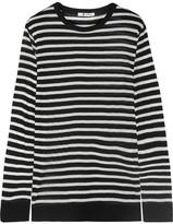 Alexander Wang Striped Jersey Sweater - Black