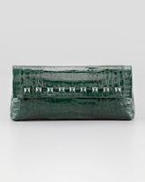 Nancy Gonzalez Studded Crocodile Clutch Bag