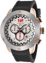 Mulco Mw26313021 Men's Prix Chronograph Black Silicone White Dial Watch