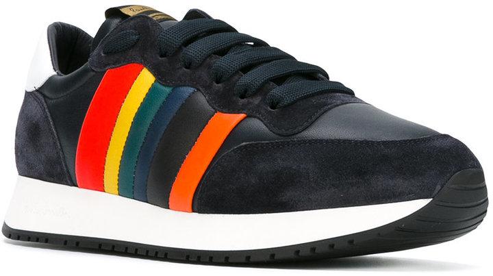 Paul Smith rainbow trim trainers