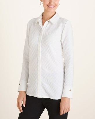 Chico's Chicos Textured Knit Shirt