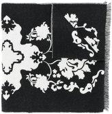 Alexander McQueen baroque skull knit scarf