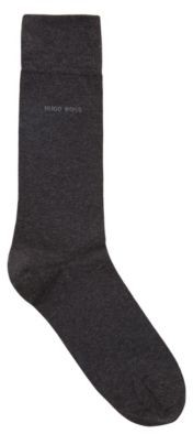 BOSS Regular-length socks in a combed-cotton blend