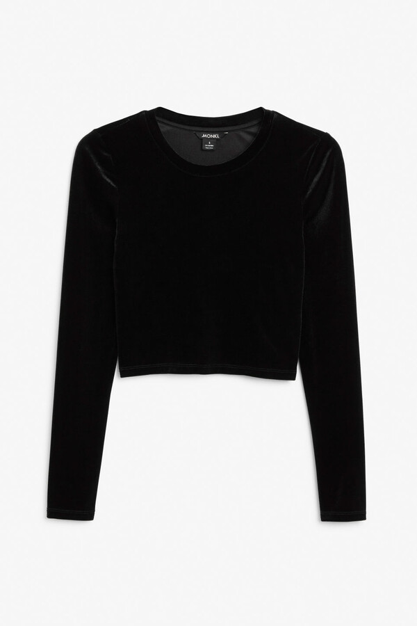 Thumbnail for your product : Monki Long-sleeve crop top