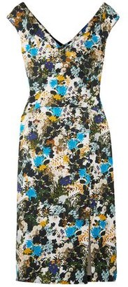 Erdem Jyoti Floral-print Cotton-blend Jacquard Dress