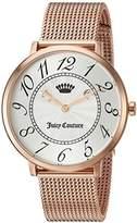 Juicy Couture Women's 'LA ULTRA SLIM' Quartz Gold Casual Watch(Model: 1901557)