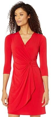 Tommy Bahama Carmela 3/4 Sleeve Dress (Tango Red) Women's Dress
