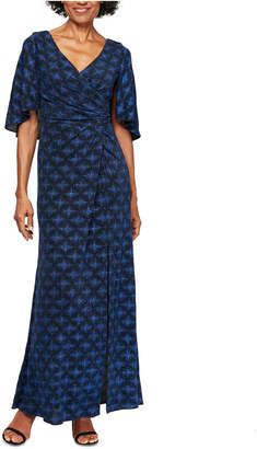 Alex Evenings Printed A-Line Long Dress