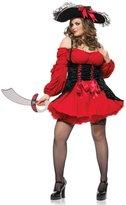 Leg Avenue Women's Plus Size Vixen Pirate Wench Costume
