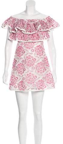 Alexis Embroidered Mini Dress