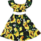 Funkyberry Pineapple Cotton Top & Skirt Set