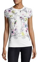 Ted Baker Passion Flower Fitted Tee, Ivory