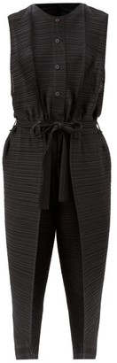 Pleats Please Issey Miyake Thicker Bounce Technical-pleated Jumpsuit - Black