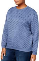 Karen Scott Plus Polka Dot Sweatshirt