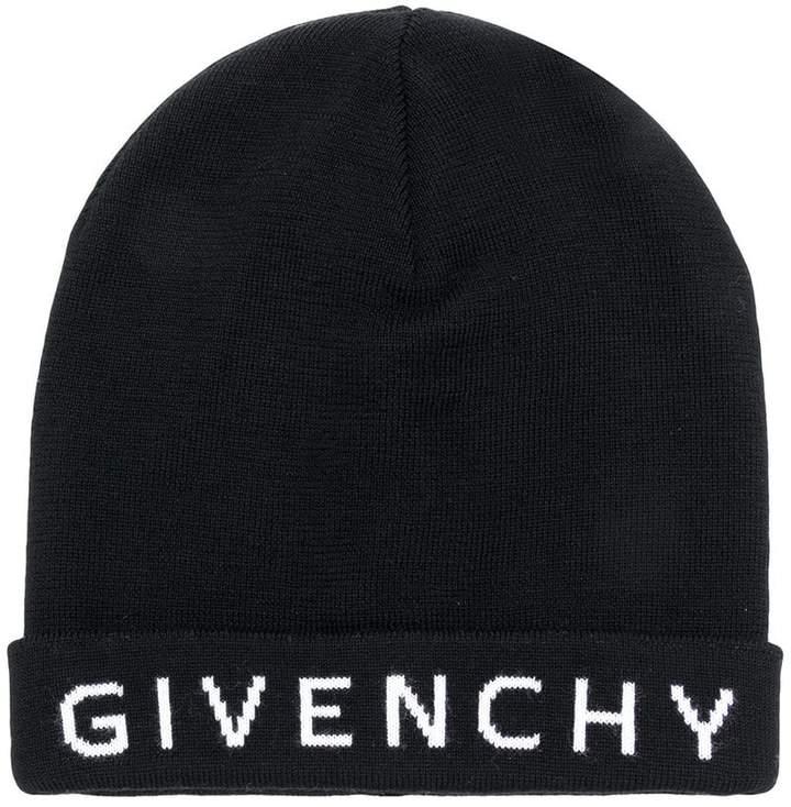 Givenchy intarsia logo beanie