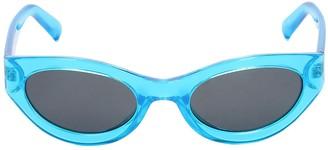 Le Specs Body Bumpin Round Neon Sunglasses