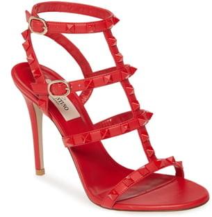 Valentino Garavani Rockstud T-Strap Sandal