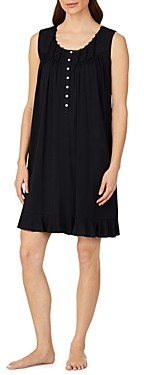 Eileen West Lace Trim Knit Nightgown