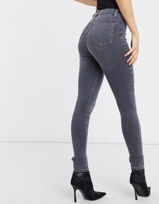 Topshop Joni skinny jeans in grey