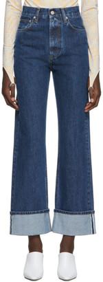 Helmut Lang Blue Denim Femme Hi Straight Jeans