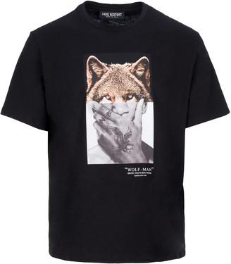 Neil Barrett Wolf-man Print T-shirt