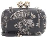 Alexander McQueen King and Queen embroidered box clutch