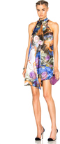 Christopher Kane Printed Front Drape Dress