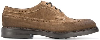Doucal's Perforated Lace-Up Shoes
