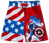 Disney Captain America Swim Trunks for Boys