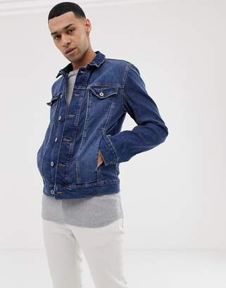 Tom Tailor jacket in mid blue wash