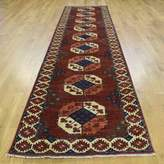 """3.1 Phillip Lim One-of-a-Kind Flory Ersari Elephant Feet Design Hand-Knotted Runner 3'1"""" x 12'8"""" Wool Red/Beige Area Rug Isabelline"""