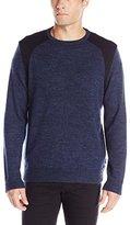 Calvin Klein Men's Cotton Poly Crew Neck Sweater