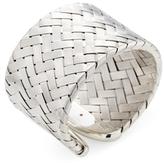 Roberto Coin Silver Woven Wide Cuff Bracelet