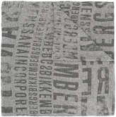 Dirk Bikkembergs printed logo scarf