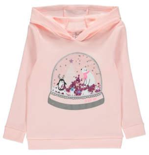 George Pink Snow Globe Sequin Christmas Hoodie