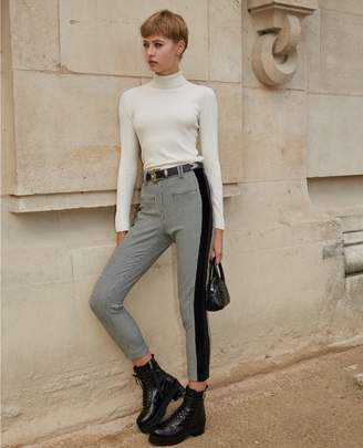 The Kooples Straight-cut grey polyester trousers w/bands