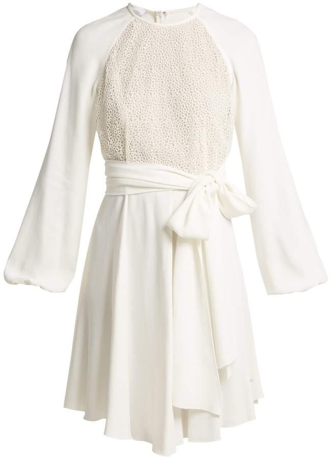 Giambattista Valli Pois lace and crepe mini dress