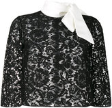 Valentino lace cape blouse - women - Silk/Cotton/Polyamide/Viscose - 42