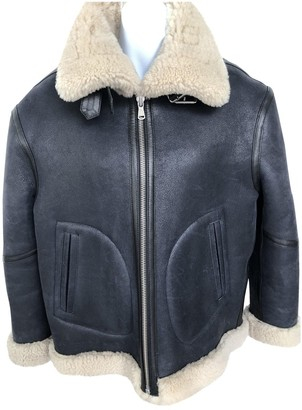 Urban Outfitters Black Leather Leather Jacket for Women
