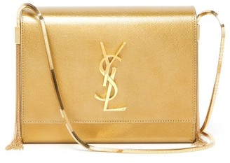 Saint Laurent Kate Small Metallic-leather Shoulder Bag - Gold