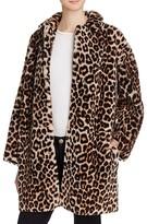 Sandro Boma Leopard-Print Fur Coat