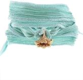 Catherine Michiels Lily De Paris Rose Gold Charm & Silk Bracelet Wrap